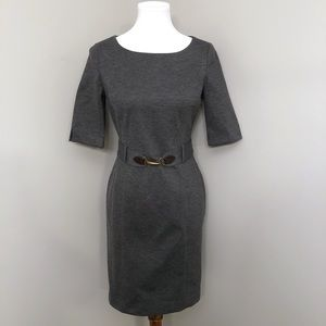 Banana Republic Structured Gray belted Dress